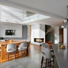 Livingroom, dining room - best interior design Poland