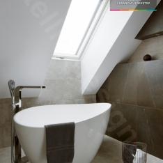 Łazienka na poddaszu zaprojektowana przez Intellio