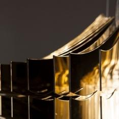Znani projektanci lamp - Aria Gold by Slamp