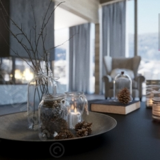 Chalet wnętrza domu - projekt Intellio designers