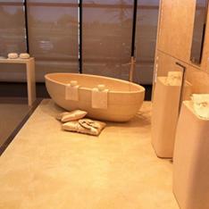 łazienka kremowa złota dwie umywalki wanna porcelanosa projekty wnętrz