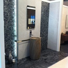 mozaika porcelanosa lazienka lustro umywalka projektowanie wnętrz szkolenie PORCELANOSA