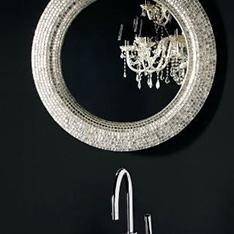 intellio projekty wnętrz lustro z mozaiki srebrne