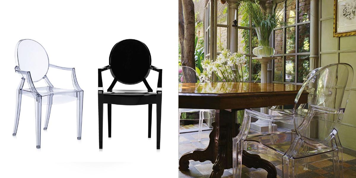 Przezroczyste krzesło Louis Ghost